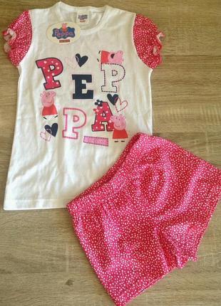 Красивая детская пижама yamamay  свинка peppa пеппа  на девочку 2 года
