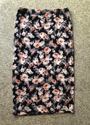 Миди юбка карандаш в цветочный принт от forever 21