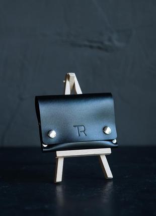 Міна гаманець з натуральної шкіри, мини-кошелек, hand made.