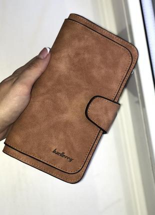 Женский клатч кошелек baellerry forever коричневый