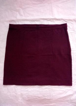 Бордовая юбка