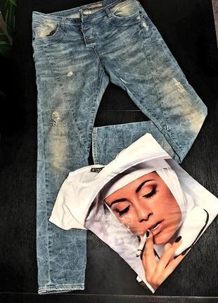 Крутые летние джинсы с модными дырками, производство италия please original    o90