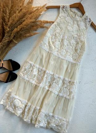 Милое гипюровое платье от rebelion