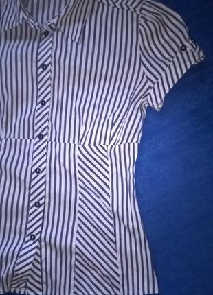 Рубашка на короткий рукав полосатая