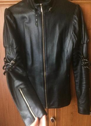 Новая куртка косуха кожанка бомбер натуральная приталенная косуха, кожанка, кожаная куртка