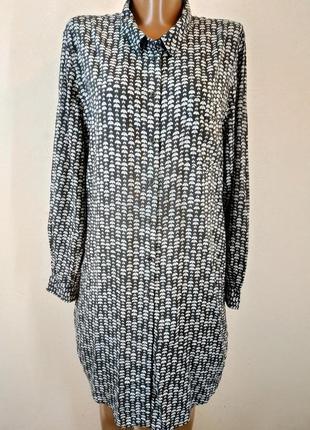 Платье-рубашка из натуральной ткани