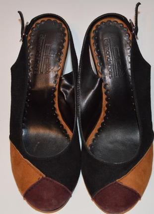 Туфли замшевые с открытой пяткой