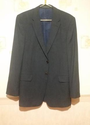 Легкий, тонкий, шерстяной пиджак на высокого парня (пог 51 см)