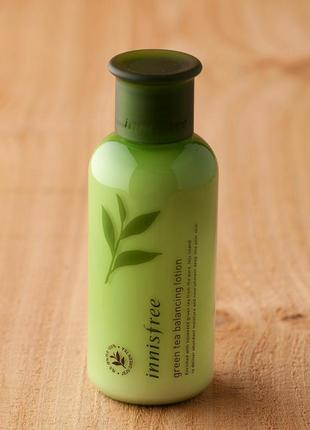 Лосьон для лица innisfree green tea balancing lotion