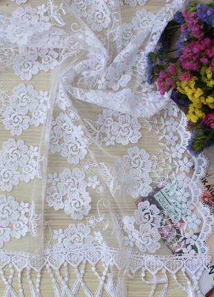 Свадебный церковный ажурный шарф платок