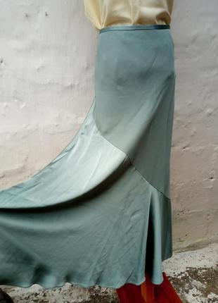 Роскошная,нарядная,вечерняя длинная шолковая юбка,бренд,комбинированая,вискоза.