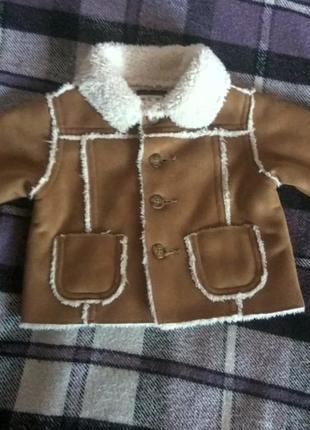 Куртка на меху baby gap,на 3 мес.