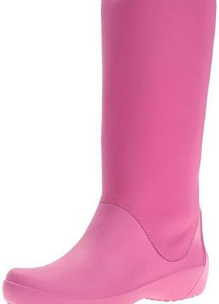Резиновые сапоги crocs rain floe tall boot раз.w7 и w8
