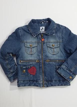 Брендовая джинсовая куртка утепленная пиджак на девочку palomino