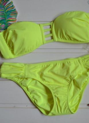 Купальник victorias secret лимонный strappy bandeau