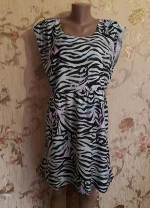 Яркое платье р-р хл