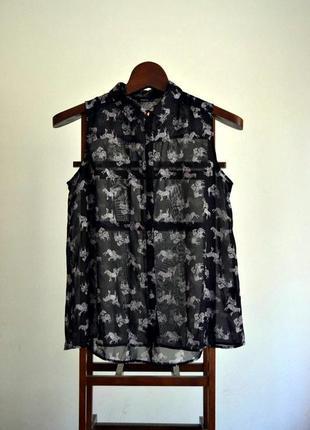 Красивая шифоновая блуза 16