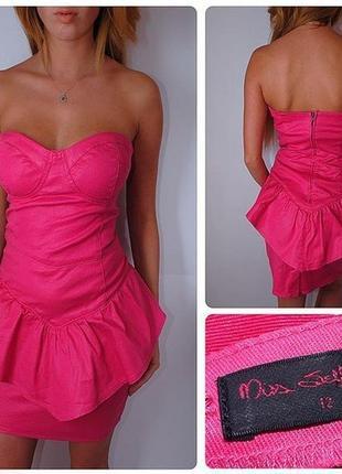 Яркое красивое розовое платье miss selfridge