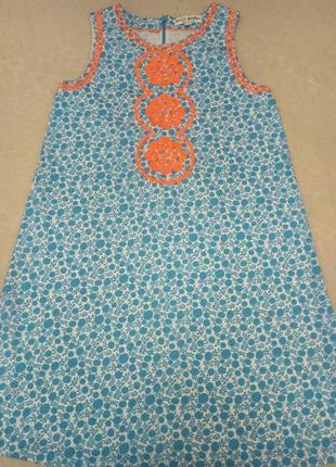 Летнее хлопковое платье mini boden