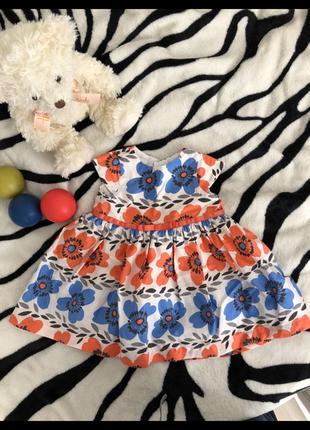 Плаття 0-3 міс m&s cotton ,55 грн.