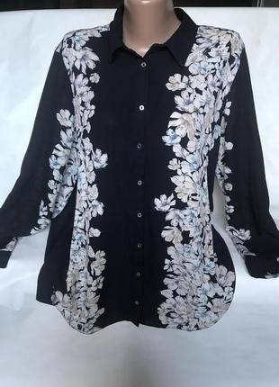 Шикарная блуза в цветах большого размера