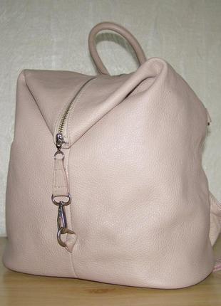 Итальянский рюкзак из плотной кожи  от lavorazione artigiamale, носка в 3-х вариантах