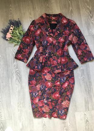 Шикарный костюм, платье и пиджак с баской