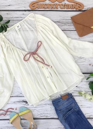 Актуальная летняя блуза свободного кроя   bl1830049  h&m studio