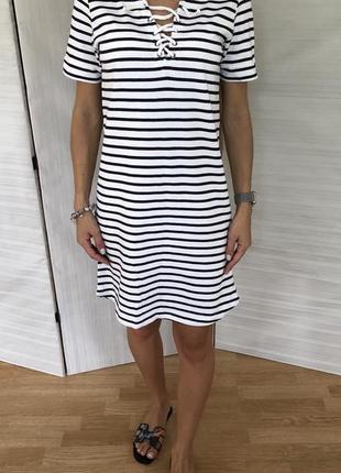 Платье свитшот в полоску h&m