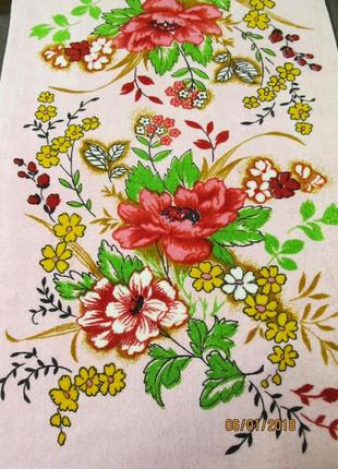 Полотенце велюр-махра банное 100% cotton