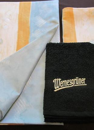 Комплект пододеяльник,наволочка,полотенце 100% хлопок