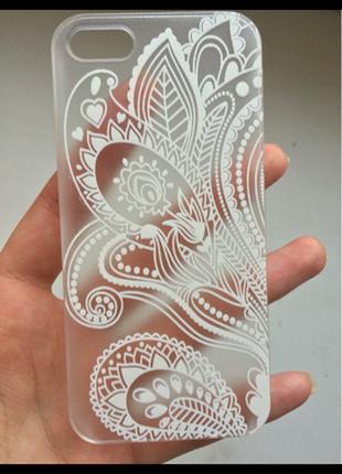 Ажурный бампер крышка пластиковый чехол с кружевом на iphone 5/5s по оптовым ценам