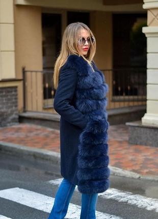 Жилет   пальто пальто 2в1 жилет из финского песца