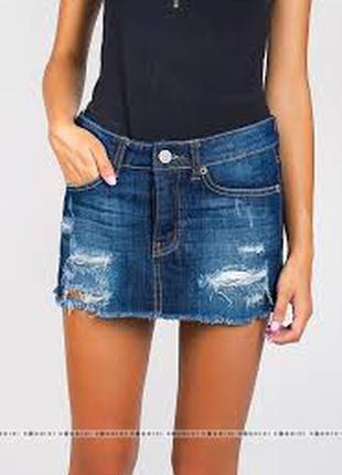 Актуальная модная рваная юбка new look