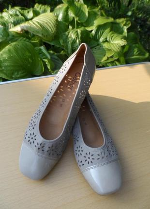 Супер туфли балетки gabor / 100% натуральная кожа