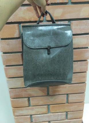 Классный молодежный рюкзак трансформер серого цвета