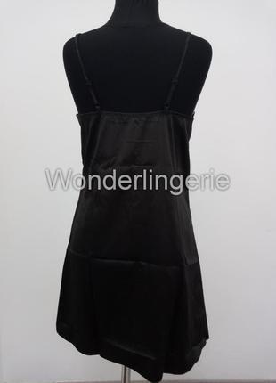 Jacqueline черный комплект набор халат с пеньюаром и стринги3 фото