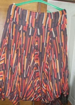 Лёгкая юбка на подкладке 100%шелк