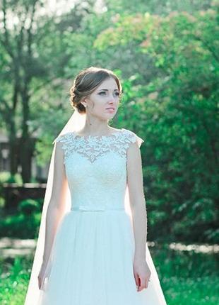 Весільне плаття кольору айворі( ціна договірна)