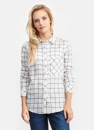 Блуза рубашка от известного испанского бренда pull&bear