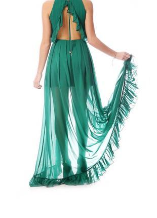 Шикарное платье в пол mangano италия