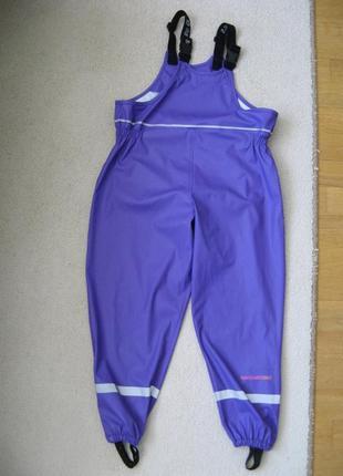Непромокаемые дождевые штаны для луж полукомбинезон navigare норвегия 7л 128+