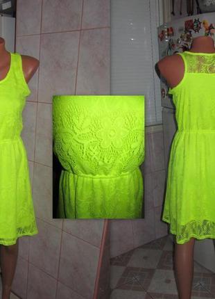 """Шикарное лимонное платье фирмы """"cherokee"""", состояние отличное!"""