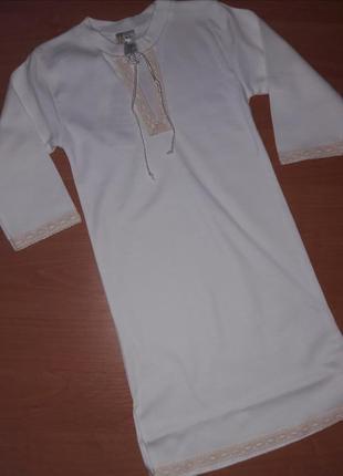 """Крестильная рубашка """"кристиан"""" с длинным рукавом"""