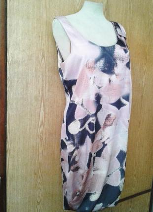 Шелковое платье в пастельных тонах, s-м.3 фото