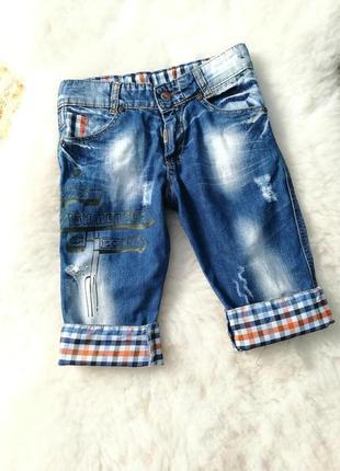 Джинсовые шорты/капри на мальчика.