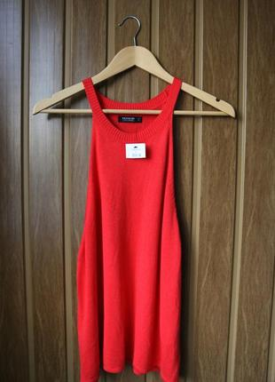 Красиваяя красная вязанная маечка от selected femme, l размер. новая!