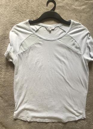 Стильна футболка с шифоновыми вставками