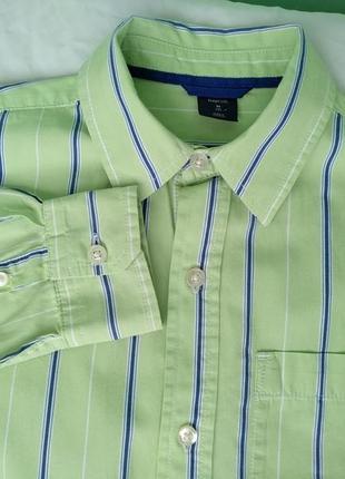 Рубашка gap р.134-140, мальчику 8-10лет, х/б, школьная
