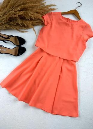 Красивое платье с имитацией блузки